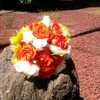 Flowers & Decor, white, yellow, orange, Flowers