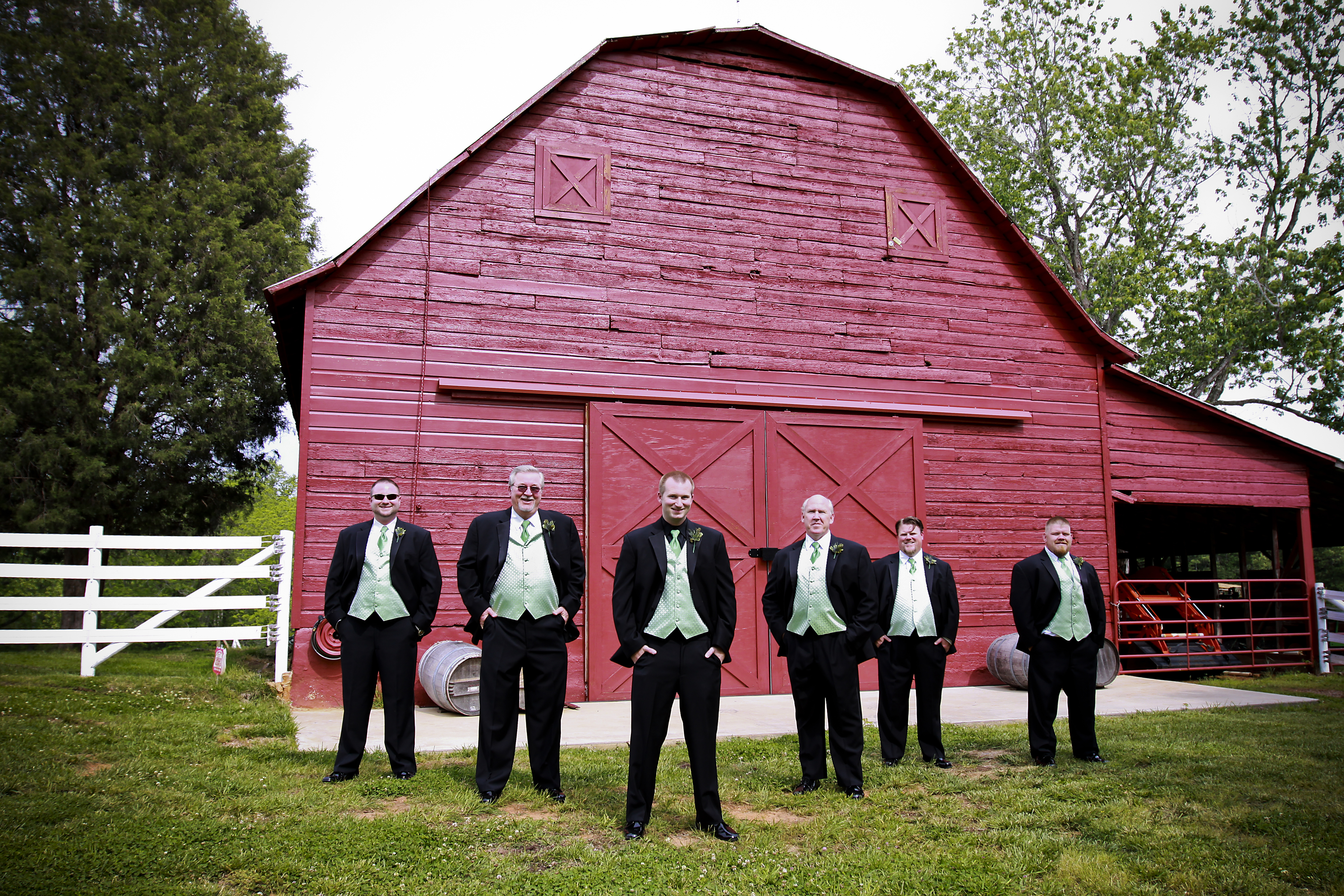 green, Rustic, Groomsmen, Barn, Apple