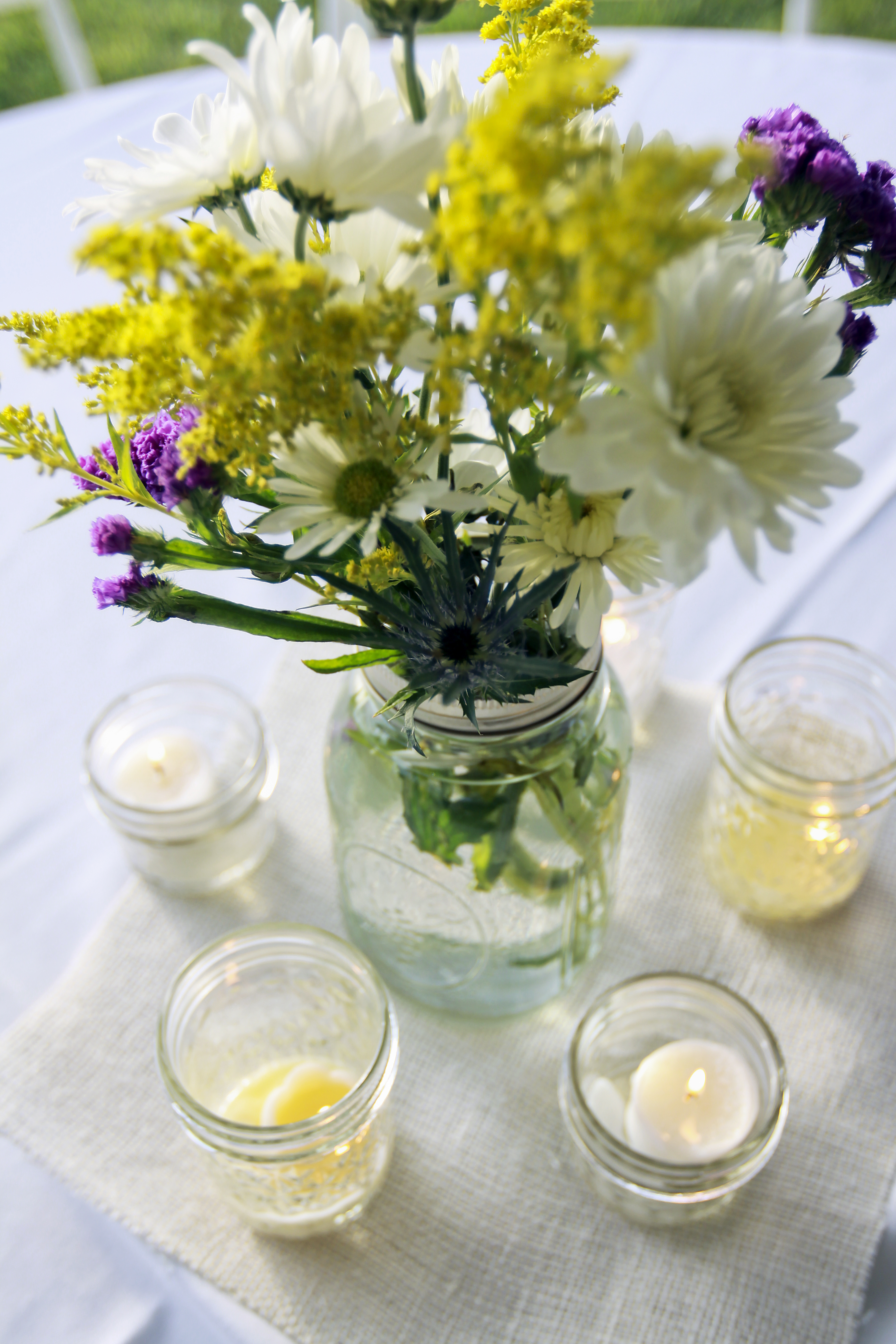 Flowers & Decor, Flowers, Jars, Mason
