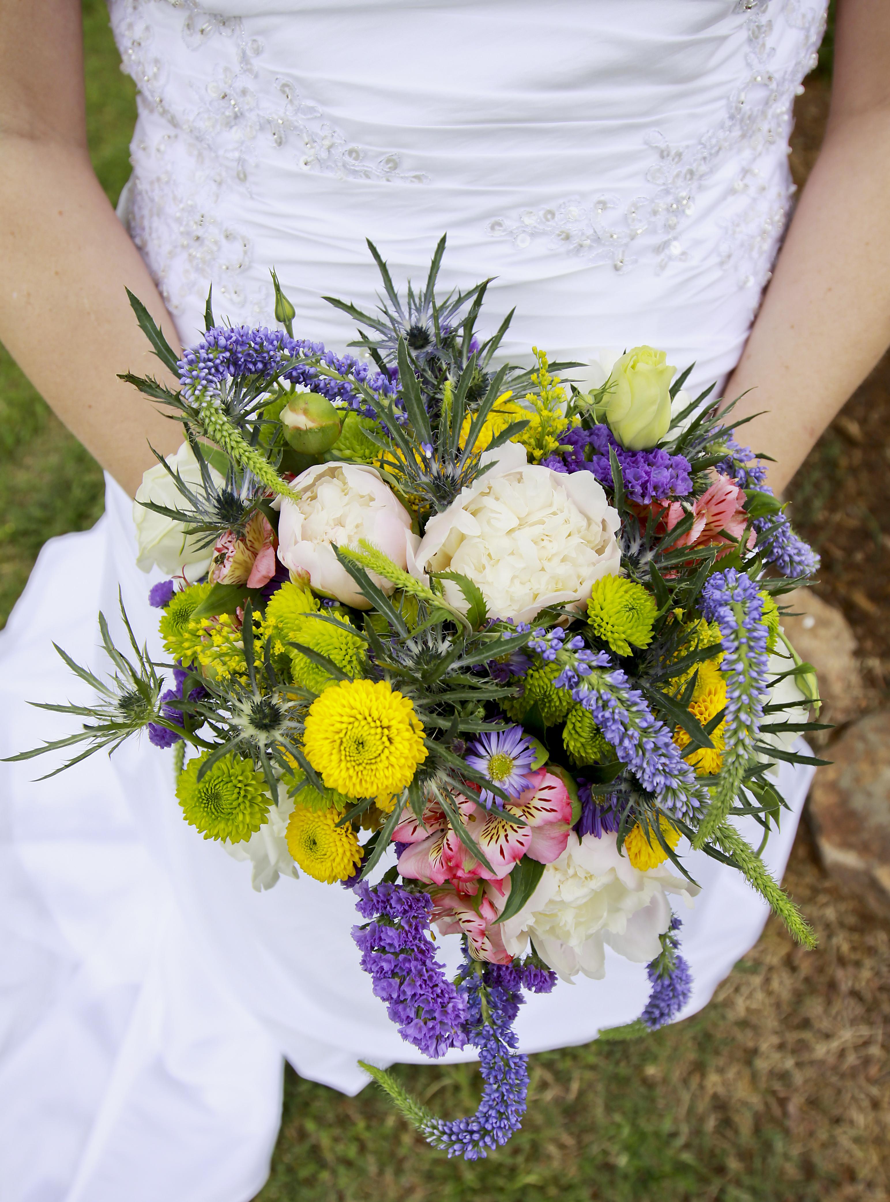 Rustic, Bouquet, Wildflowers