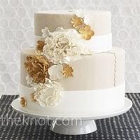 Cakes, white, orange, brown, cake