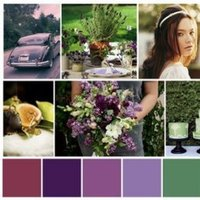 purple, green, Inspiration board