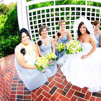 Beauty, Flowers & Decor, Bridesmaids, Bridesmaids Dresses, Wedding Dresses, Fashion, yellow, black, silver, dress, Makeup, Bridesmaid Bouquets, Flowers, Flower Wedding Dresses