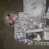 Flowers & Decor, Favors & Gifts, white, silver, Favors, Flower, Girl, Gift, Petals, Card, Bells, Holder, Charms