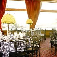 Reception, Flowers & Decor, white, yellow, black