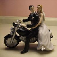 Reception, Flowers & Decor, Cakes, cake, Wedding, Biker