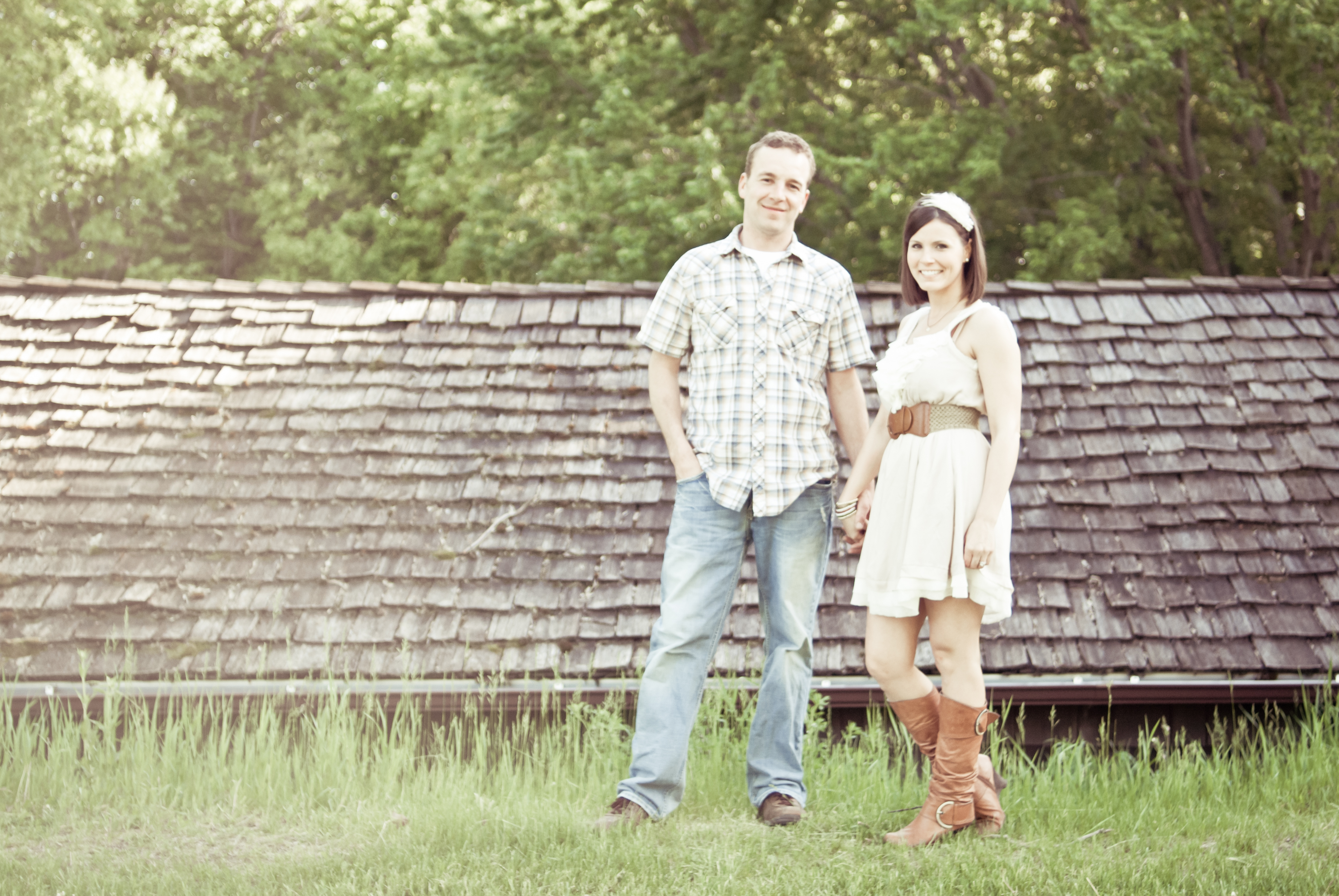Rustic, Home, Engagement, Farm, Log