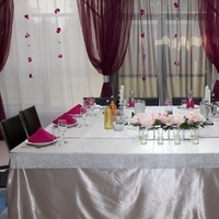 pink, purple, silver, Orchids, Tablecloth, Bead, W, Plum, Strands, Panels-