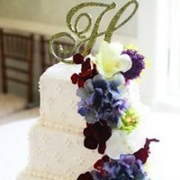 Ceremony, Flowers & Decor, Cakes, purple, green, cake, Ceremony Flowers, Flowers