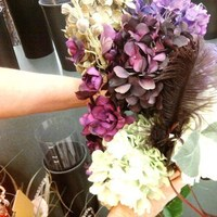 Flowers & Decor, Bridesmaids, Bridesmaids Dresses, Fashion, purple, green, Bridesmaid Bouquets, Flowers, Inspiration board, Flower Wedding Dresses