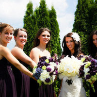 Beauty, Ceremony, Flowers & Decor, Bridesmaids, Bridesmaids Dresses, Fashion, purple, green, Ceremony Flowers, Bridesmaid Bouquets, Flowers, Hair, Flower Wedding Dresses