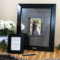 Reception, Flowers & Decor, silver, Guestbook, Photo, Mat, Frame, Engraveable