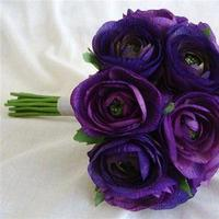 Flowers & Decor, Bridesmaids, Bridesmaids Dresses, Fashion, purple, Bridesmaid Bouquets, Flowers, Flower Wedding Dresses