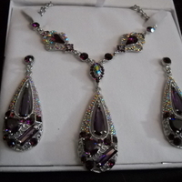 Jewelry, white, pink, purple, silver, Claytonandshauna