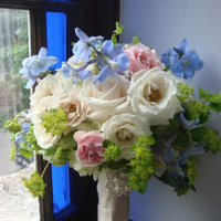 Flowers & Decor, white, pink, blue, Bride Bouquets, Flowers, Bouquet, Bridal