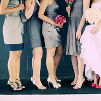 Bridesmaids, Bridesmaids Dresses, Fashion, pink, silver