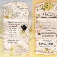 Stationery, white, yellow, pink, gold, Invitations, Inspiration board