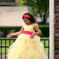 Beauty, Bridesmaids, Bridesmaids Dresses, Wedding Dresses, Ruffled Wedding Dresses, Fashion, yellow, pink, dress, Hair, Organza, Ruffles, Hot, Ruffled, organza wedding dresses