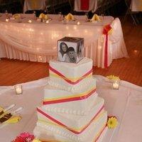 Flowers & Decor, Cakes, yellow, orange, pink, cake, Flowers