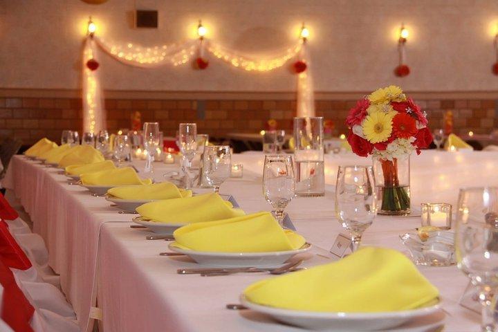 Reception, Flowers & Decor, yellow, orange, pink, Flowers