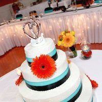Flowers & Decor, Cakes, yellow, orange, blue, green, cake, Flowers