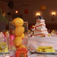 Reception, Flowers & Decor, yellow, orange, pink, Flowers