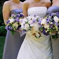 Flowers & Decor, Bridesmaids, Bridesmaids Dresses, Fashion, purple, silver, Bridesmaid Bouquets, Flowers, Flower Wedding Dresses