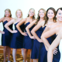 Beauty, Bridesmaids, Bridesmaids Dresses, Wedding Dresses, Fashion, blue, dress, Makeup