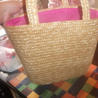 pink, Bags, Bridesmaid, Tote, Straw