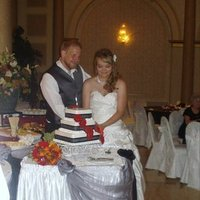 Reception, Flowers & Decor, Cakes, red, black, cake, Flowers