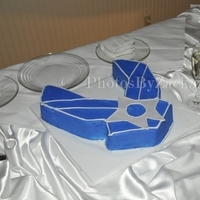 Reception, Flowers & Decor, Cakes, blue, cake