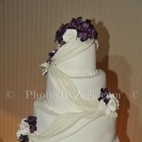 Reception, Flowers & Decor, Cakes, white, purple, cake