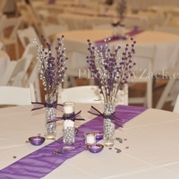Reception, Flowers & Decor, white, purple, silver