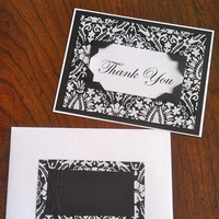 Stationery, white, black, Invitations, You, Thank