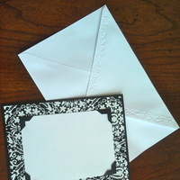 Ceremony, Reception, Flowers & Decor, Stationery, white, black, invitation, Invitations, Menu, Table, Program, Number, Damask