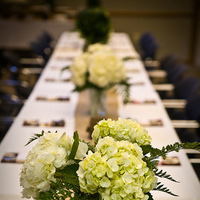 Flowers & Decor, white, pink, brown, silver, gold, Centerpieces, Flowers, Hydrangeas