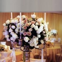 white, pink, silver, Glam Wedding Flowers & Decor, Vintage Wedding Flowers & Decor