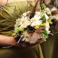 Flowers & Decor, Bridesmaids, Bridesmaids Dresses, Fashion, brown, Bridesmaid Bouquets, Flowers, Bouquets, Flower Wedding Dresses