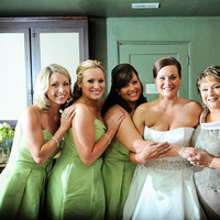 Bridesmaids, Bridesmaids Dresses, Fashion, white, green