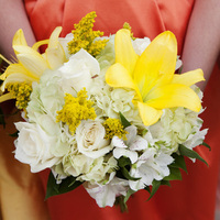 Flowers & Decor, white, yellow, orange, green, Flowers