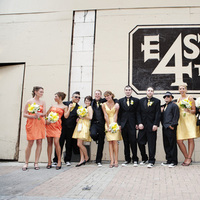 Bridesmaids, Bridesmaids Dresses, Fashion, yellow, orange, Groomsmen