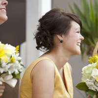 Beauty, Ceremony, Flowers & Decor, Bridesmaids, Bridesmaids Dresses, Fashion, white, yellow, Ceremony Flowers, Bridesmaid Bouquets, Flowers, Hair, Flower Wedding Dresses