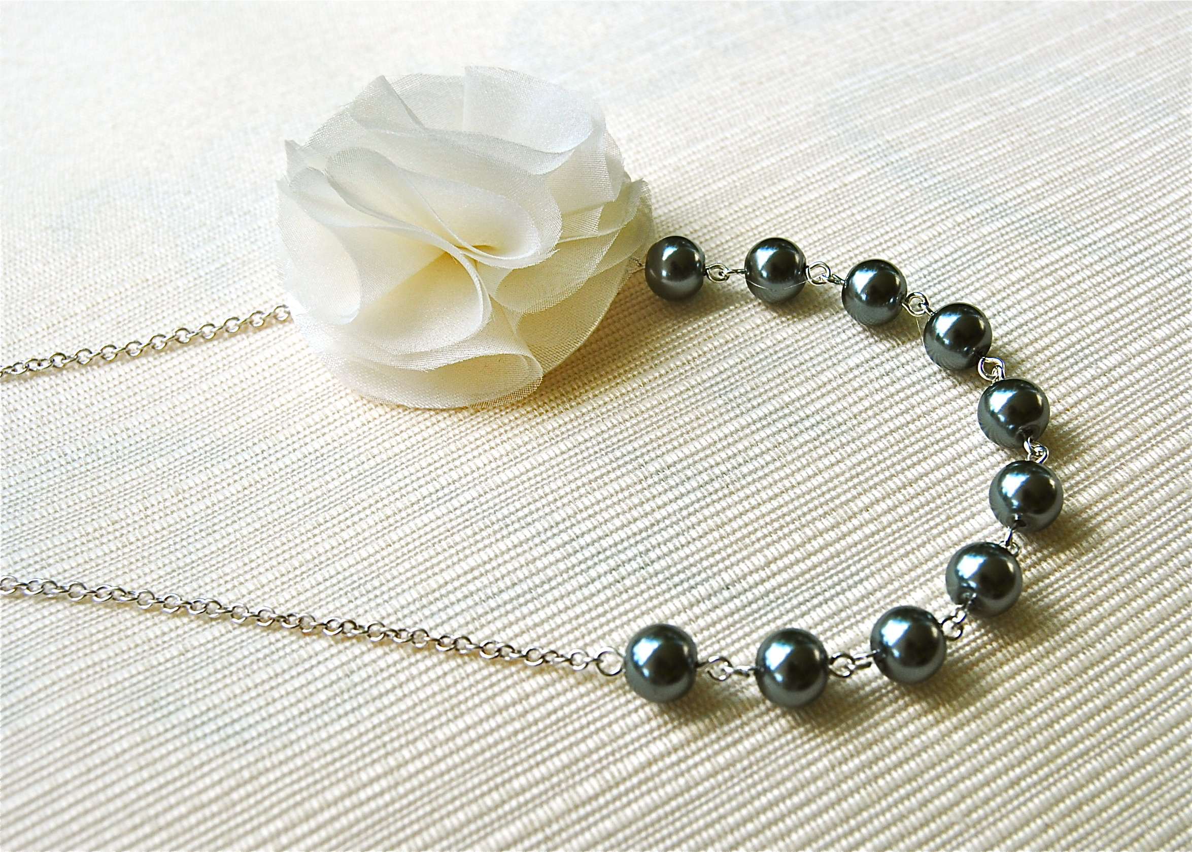 Flowers & Decor, Jewelry, Flower, Bridesmaid, Pearl, Blustarfruit