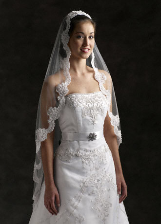 Beauty, Ceremony, Flowers & Decor, Veils, Lace Wedding Dresses, Fashion, white, Veil, Hair, Lace, Mantilla