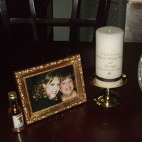 Ceremony, Flowers & Decor, gold, Table, Memorial