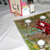 Reception, Flowers & Decor, red, travel, Centerpieces, Centerpiece, Airplane, Non-floral