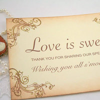 Reception, Flowers & Decor, Favors & Gifts, brown, Favors, For, Card, Smores