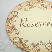Reception, Flowers & Decor, brown, Table, Card, Reserved
