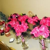 Ceremony, Flowers & Decor, pink, black, Ceremony Flowers, Flowers