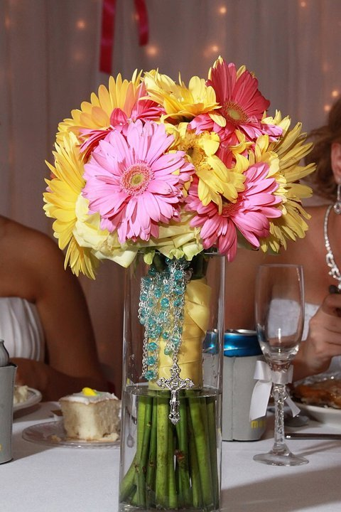 Flowers & Decor, Bridesmaids, Bridesmaids Dresses, Fashion, yellow, orange, pink, Bridesmaid Bouquets, Flowers, Flower Wedding Dresses